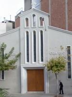 Façana de l'església de la Mare de Déu de Fàtima
